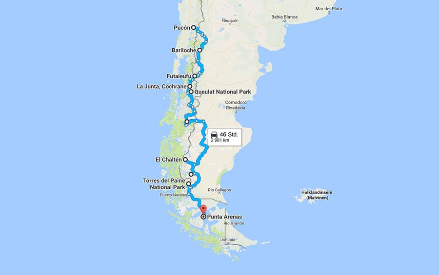 Reiseroute Patagonien für Selbstfahrer und Camper   Bilder Patagonien Rolling Adventure