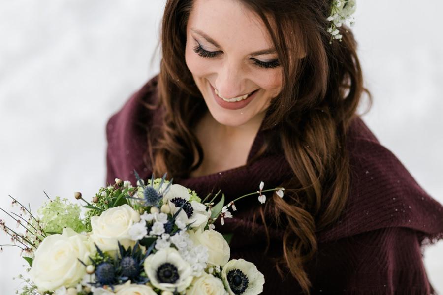 Winterbraut - Heiraten im Schnee - Stefanie Reindl Photography