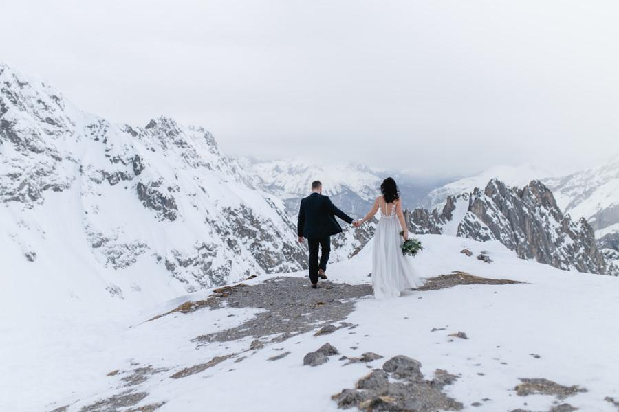 Auf der Nordkette bei einem After Wedding Shooting