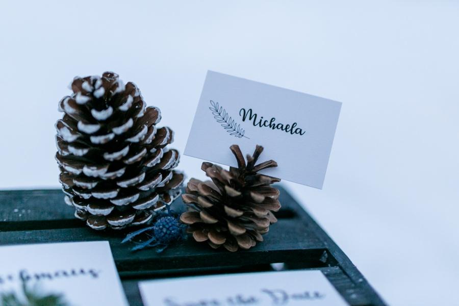 Papeterie für Winterhochzeit fotografiert von Stefanie Reindl Photography