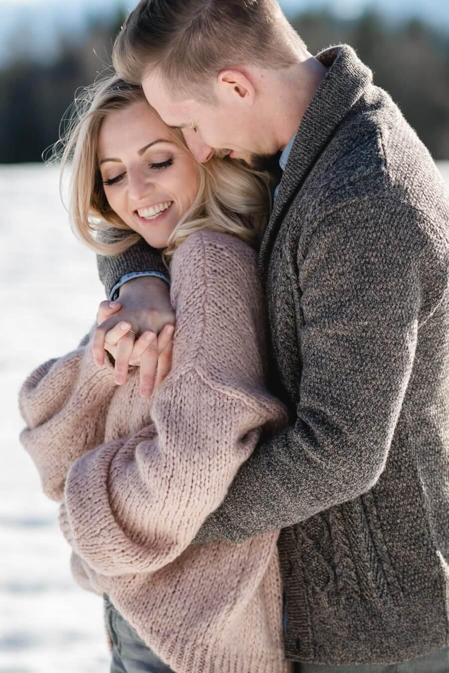 Verlobungsshooting im Winter in Salzburg   Stefanie Reindl Photography