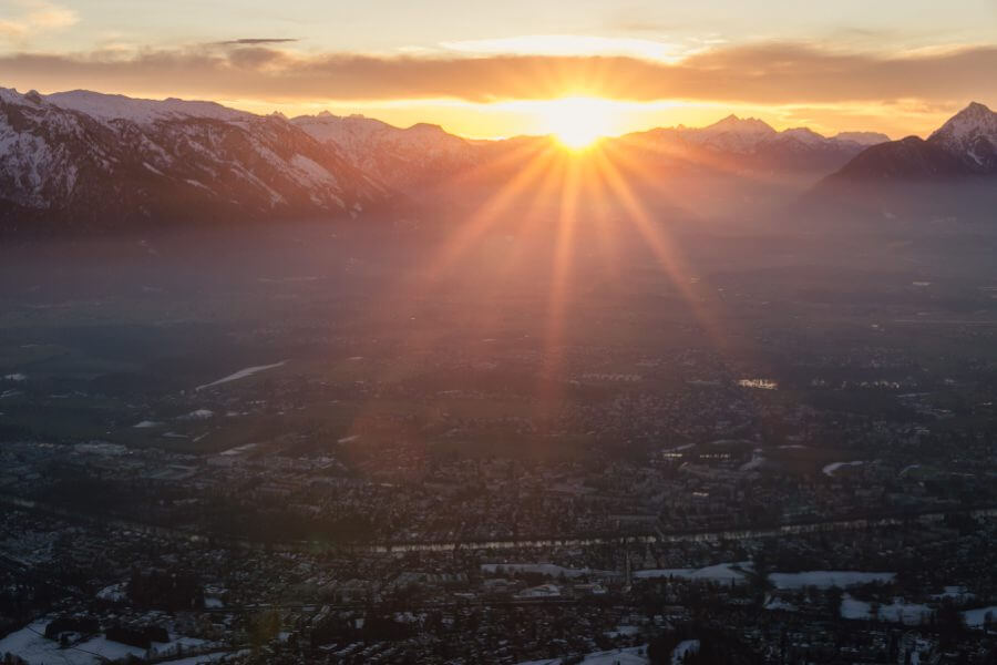Sonnenuntergang am Gaisberg   Stefanie Reindl Photography