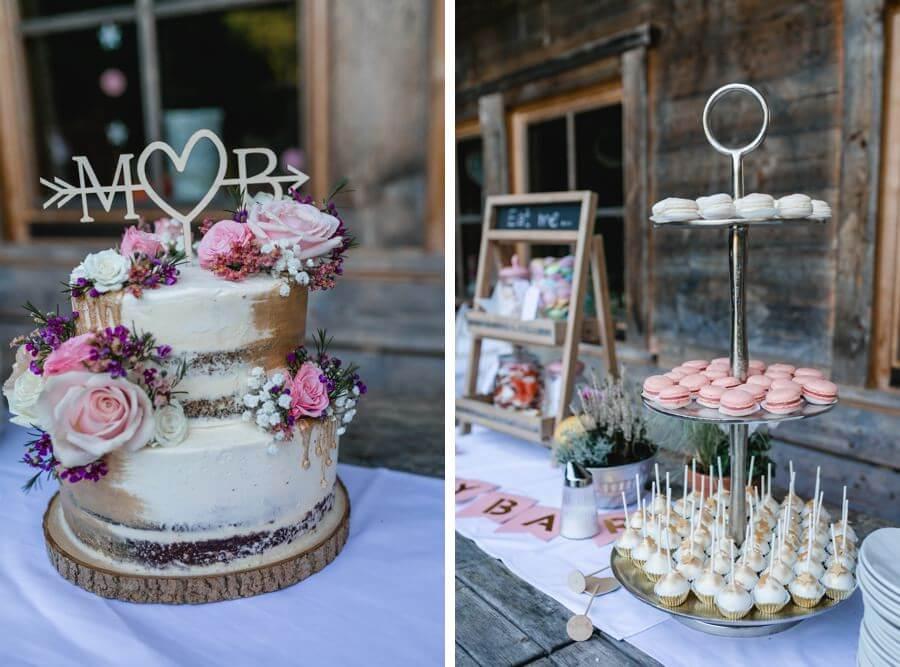 Hochzeitstorte mit Candy Bar | fotografiert von Stefanie Reindl Photography