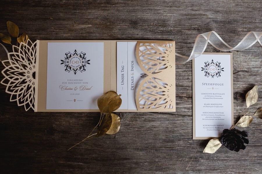Ideen für die Hochzeitseinladung und Hochzeitspapeterie