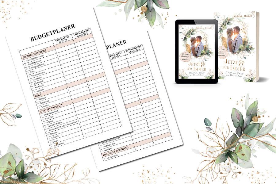 Budgetplaner und Spartipps zum Thema Hochzeit planen
